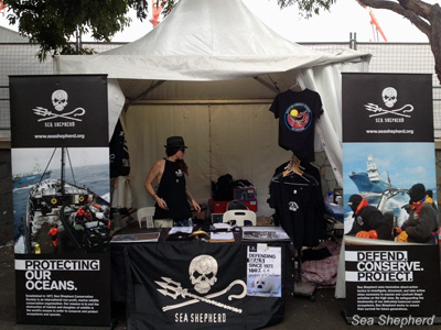 Sea Shepherd's booth at the Big Day Out Festival in Australia