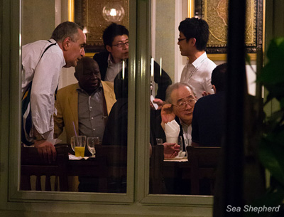 The Japanese took the African delegations out for dinner