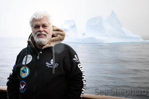 Captain Paul Watson during one of his many trip defending the marine life of the Antarctic