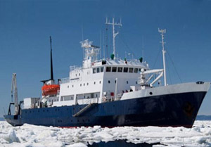 The Russian icebreaker turned cruise ship, MV Akademik Shokalskiy