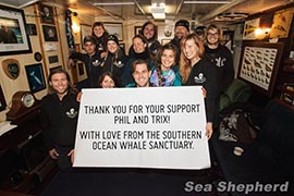 Thank you Phil & Trix! From all the Sea Shepherd crews.