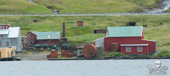"The whaling station in vid Áir, featured, in ""Whale Wars: Viking Shores,"" functioned far into the 20th century."
