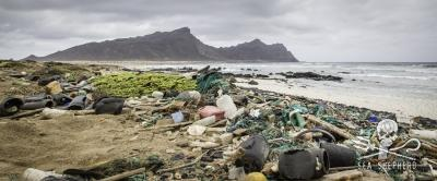 The garbage laden beach of Anchado