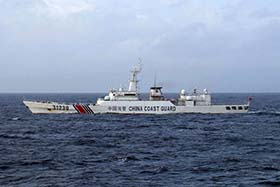 File photo released by the Japan Coast Guard shows a Chinese Coast Guard ship near disputed islets.