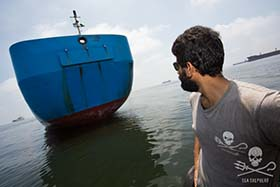 Last week, Sea Shepherd's campaign leader, Captain Siddharth Chakravarty, notified officials in Indonesia of the suspected entry of the Viking into Indonesian waters. Photo: Tim Watters