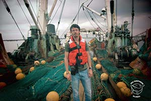 Captain Peter Hammarstedt inspects fishing trawler seized in Monrovia, Liberia during 2013.