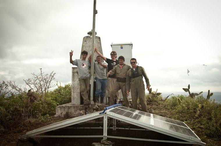 Sea Shepherd helps set up the AIS system in the Galapagos, 2011/2012.