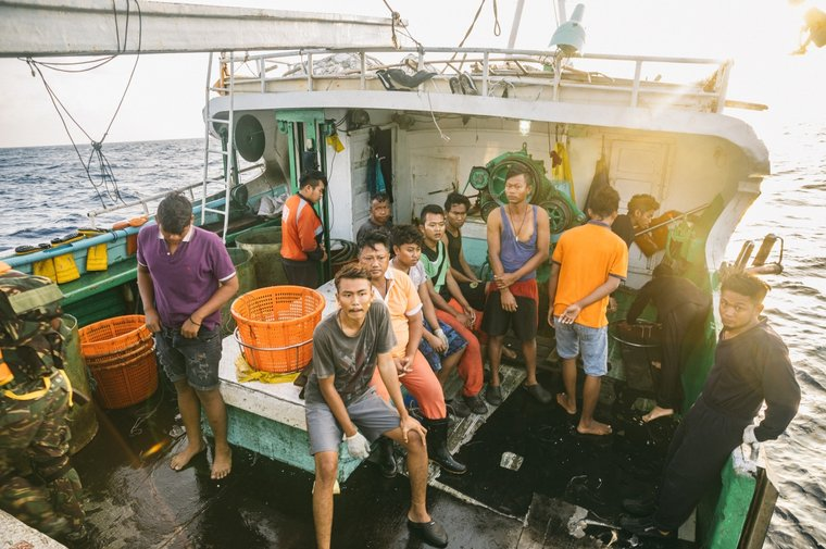 Tanzanian authorities helped 14 Indonesian nationals return home. Photo by Jax Oliver / Sea Shepherd.