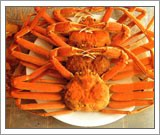 Snow crabs on a plate
