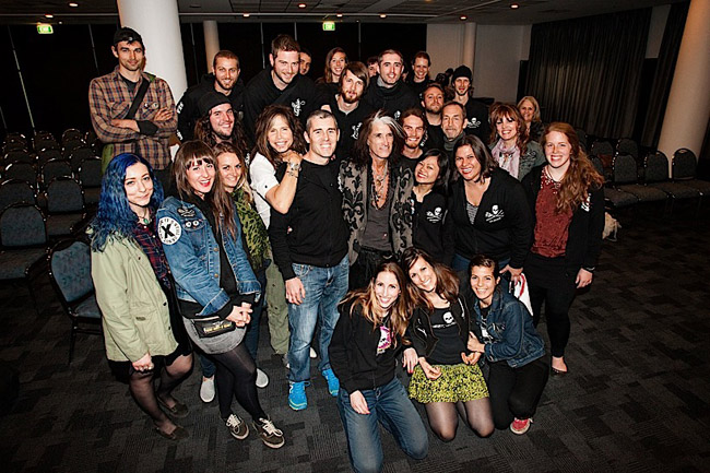 Aerosmith visits Sea Shepherd