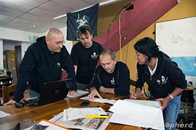 Sea Shepherd Galapogos Team – Hugo, Marcel, Alex and Malena
