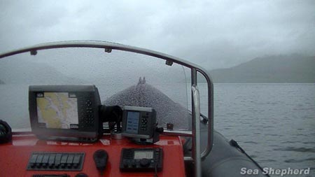 The 400hp RIB 'Spitfire' now on patrol in the Faroe Islands on Operation GrindStop 2014 following the successful 232nm overnight crossing from the North coast of Scotland