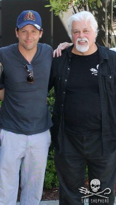 TV Actor Ross McCall with Sea Shepherd Founder Captain Paul Watson