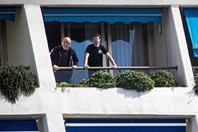 Captains Alex Cornelissen and Peter Hammarstedt at the hotel  photo: Marianna Baldo