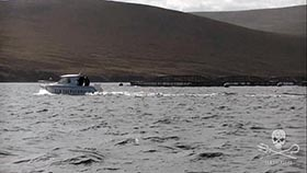 Vessel 'Togs' patrolling the fish farms or Scapa Flow, Orkney Islands