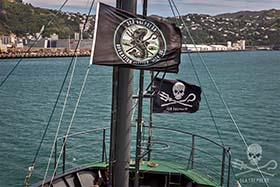 The Sam Simon departs Wellington for the Southern Ocean. Photo: Jeff Wirth