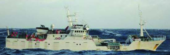 The Songhua, formerly  Nihewan and Paloma V was detained in New Zealand in 2008, but released with a warning (Image courtesy CCAMLR)