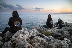 Op. Siracusa volunteers watch over the Plemmirio Protected Area. Photo: Marianna Bald