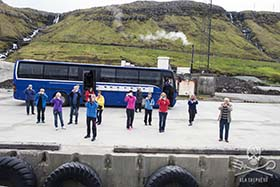 According to ramped-up Faroese law, these tourists - and all visitors to the archipelago - must report any sightings of whales and dolphins to local authorities, or else face fines and 2 years imprisonment. Photo: Mayk Wendt