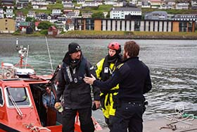 Sea Shepherd volunteer, Tom Strerath of Germany, is taken into custody. Photo: Florian Stadler