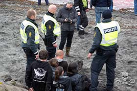 5 Sea Shepherd volunteers have been arrested in the Faroe Islands. Photo: Marianna Baldo