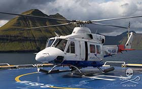 Reports indicated the pod was first spotted by an Atlantic Airways helicopter. (source: Wikimedia Commons)
