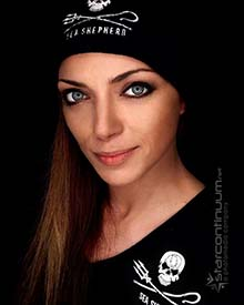 German Actress Anne Menden joins Sea Shepherd's land team for Operation Sleppid Grindini.
