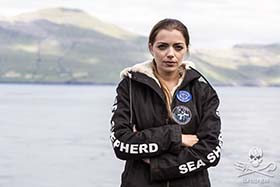 Anne joins Sea Shepherd for the second consecutive year in the Faroe Islands. Photo: Sea Shepherd