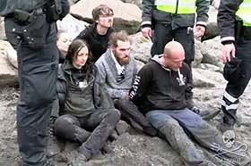 The Sandavágur 5, arrested for the 'crime' of defending pilot whales in the Faroe Islands. Photo: Sea Shepherd