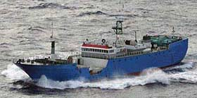 Toothfish poaching vessel, Viking, was detained in Malaysia in March, but has since absconded from justice. (courtesy CCAMLR)