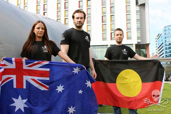 Clive Standen from hit TV series 'Vikings' lent his support to the fight to save the Bight. Photo: Sea Shepherd UK