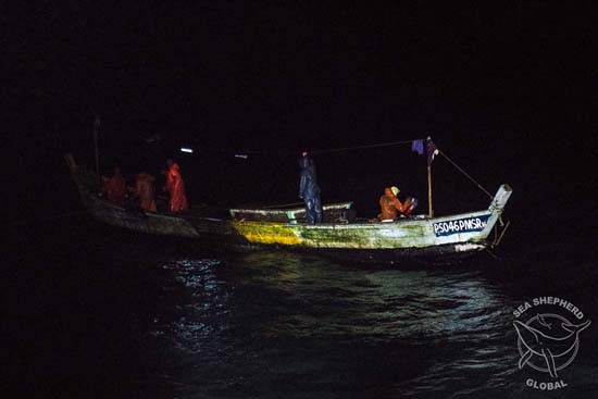 Congolese pirogue caught illegally fishing inside Gabon's territorial waters