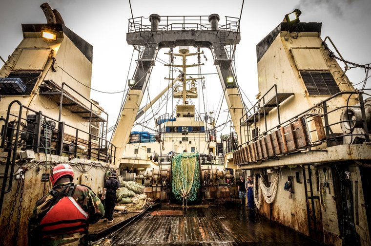 The boarding of the F/V Dzintars by Liberian Coast Guard and Sea Shepherd. Photo Melissa Romao/Sea Shepherd.