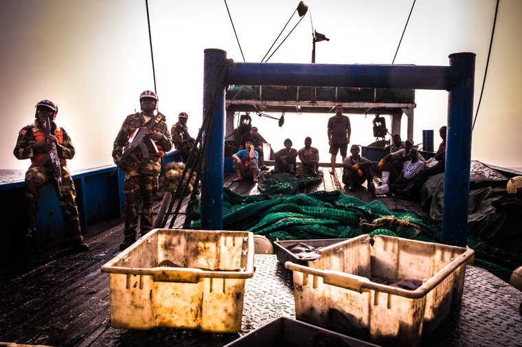Liberian Coast Guard arrests the Guo Ji 809. Photo by Melissa Romao/Sea Shepherd.