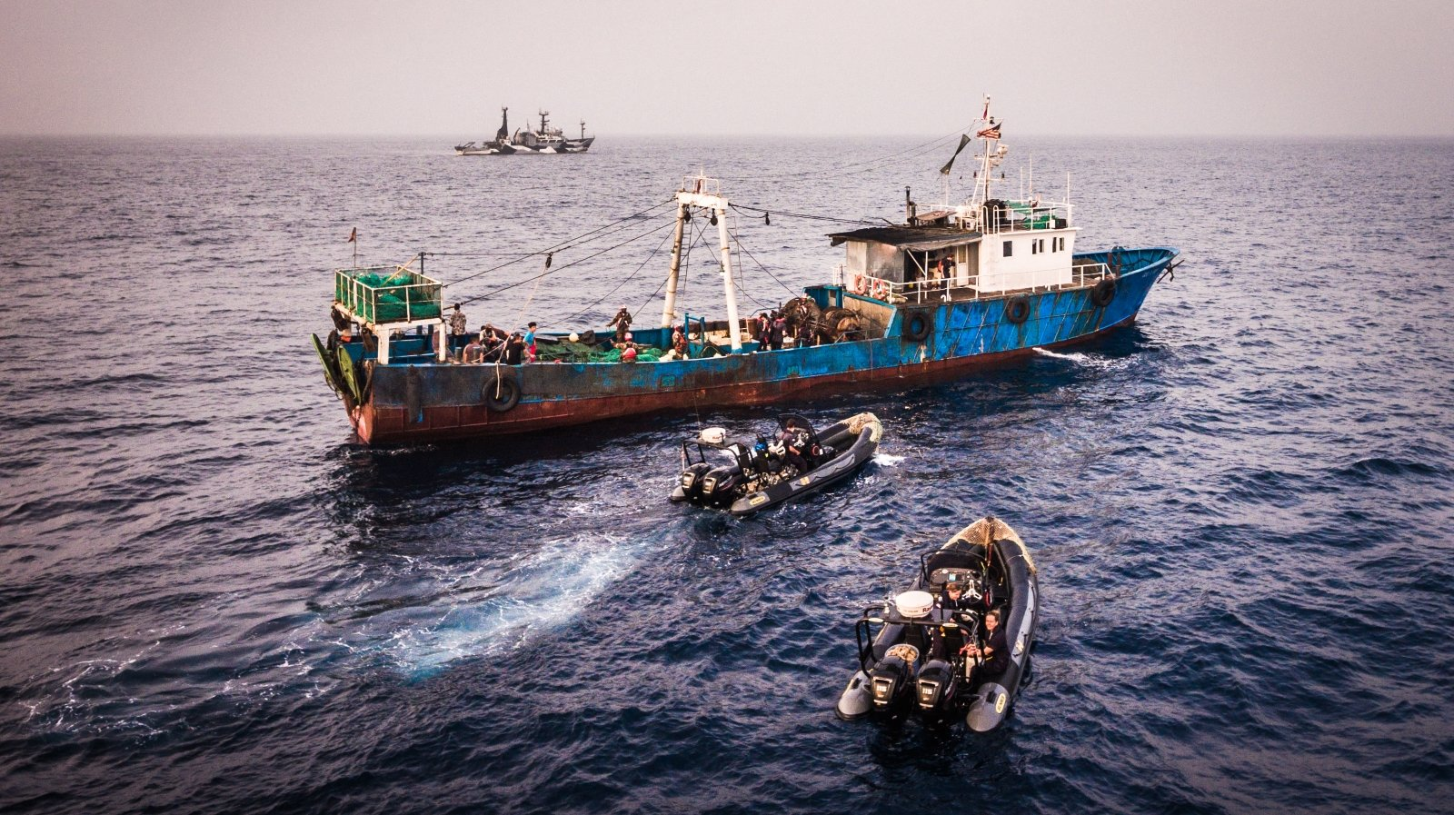 Sea Shepherd celebrates New Year with arrest of illegal fishing vessel in Liberia