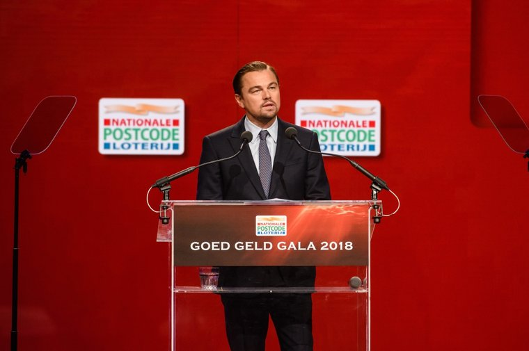 Guest of honour Leonardo DiCaprio at the Dutch Postcode Lottery 'Goed Geld Gala' in Amsterdam. Photo: Roy Beusker