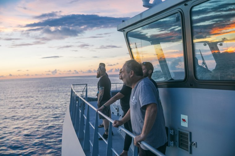 The crew of the Ocean Warrior on patrol in Tanzania. Photo by Jax Oliver/Sea Shepherd.