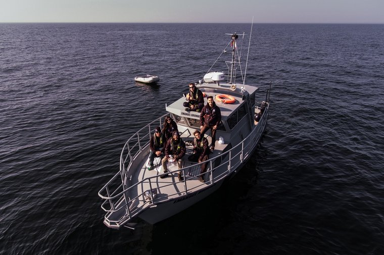 The crew on the MV Emanuel Bronner. Photo by Sea Shepherd.