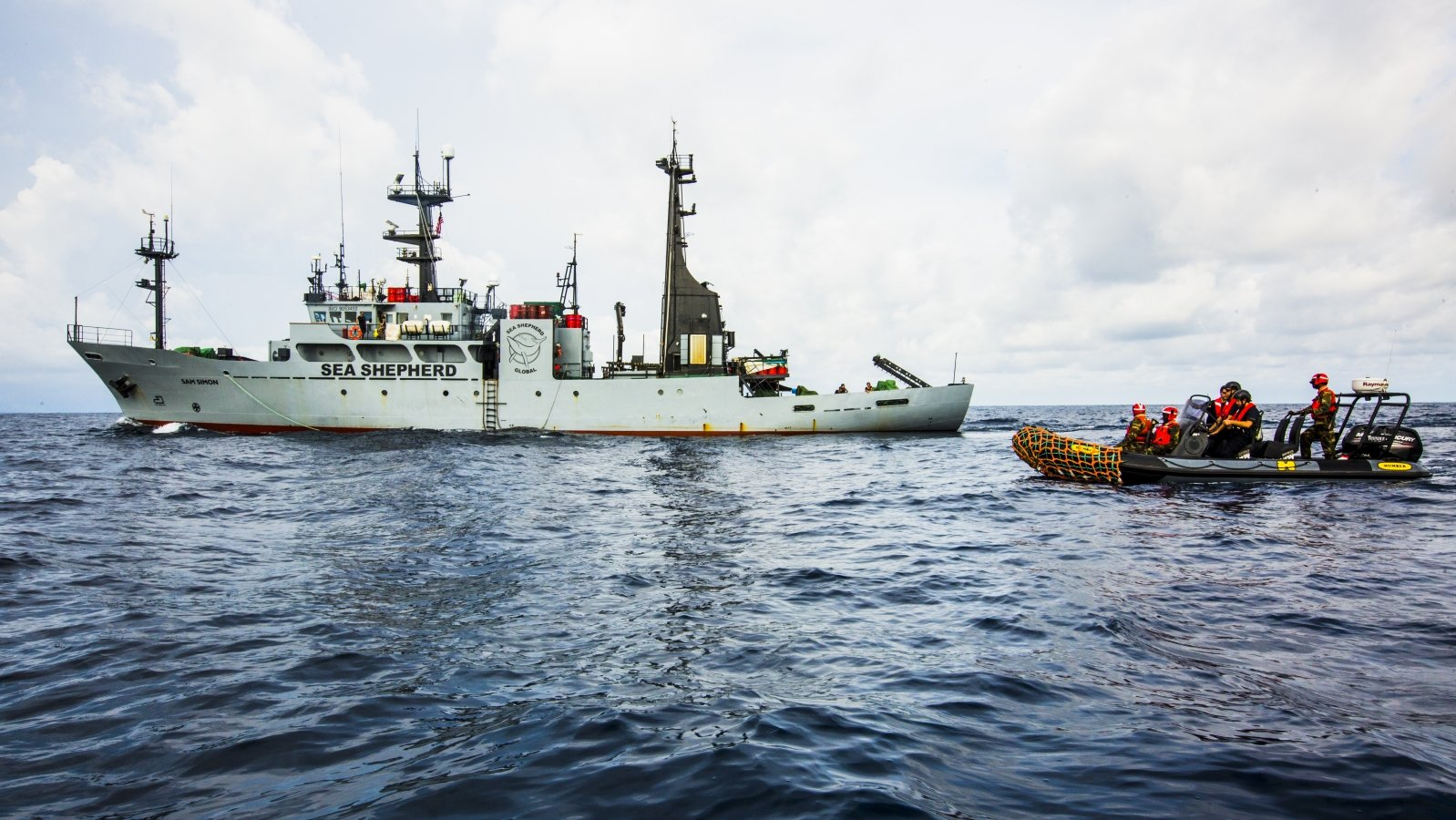 Foreign Industrial Trawler Arrested as Sea Shepherd Launches Renewed Partnership with Liberia