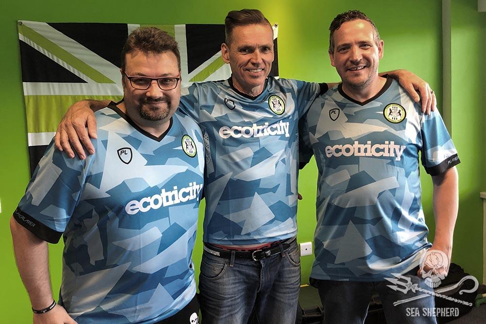 Omar, Rob, and Dale modelling the Third Kit Aug 2019