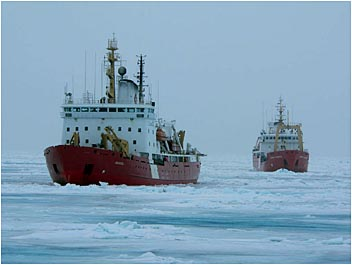 Coast Guard Vessels Amundsen and Edward Cornwallis
