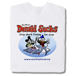 Disney - Stop Shark Finning for Soup T-shirt