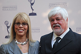Marjorie Kaplan and Captain Paul Watson on the Red Carpet