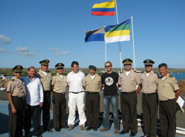 Heads of police in Galapagos and Sea Shepherd