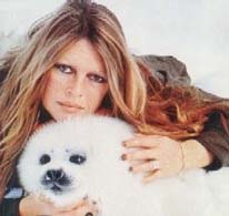Brigitte Bardot and baby seal