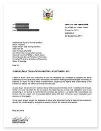 Letter from the Ombudsman to presenters