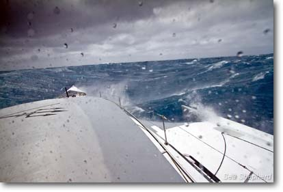 "December, 28, 2011: The Brigitte Bardot faces a ""Furious 50"" storm on their way to the Southern Ocean   -  photo: Simon Ager"