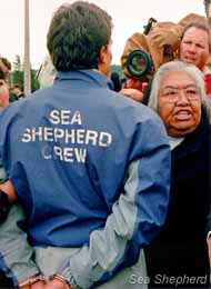 When some of the Sea Shepherd crew were arrested, Alberta fiercely protested on their behalf.