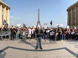 Sea Shepherd supporters gather in Paris, France for S.O.S. Day