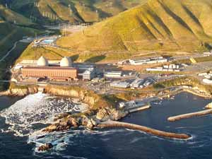 Aerial view of Diablo Canyon.